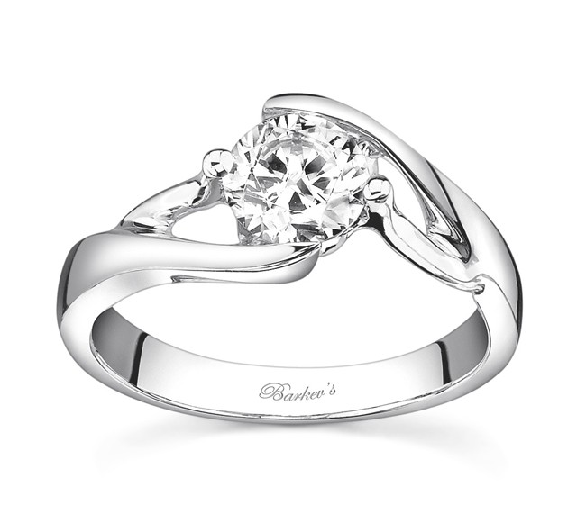07d0f1d5e Barkev's Solitaire Engagement Ring - 7543LW