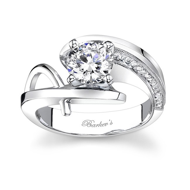 White Gold Engagement Ring - 7619LW