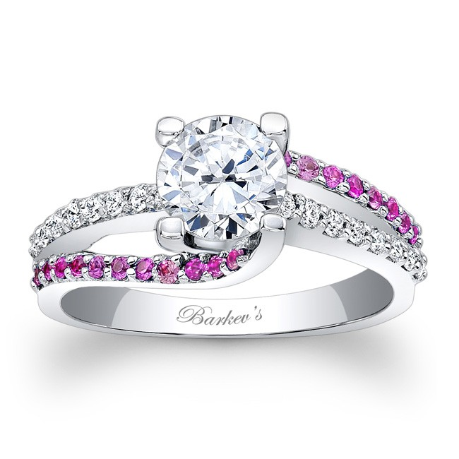 Engagement Ring With Pink Shires