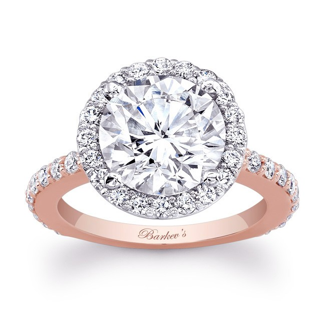 Rose White Gold Engagement Ring