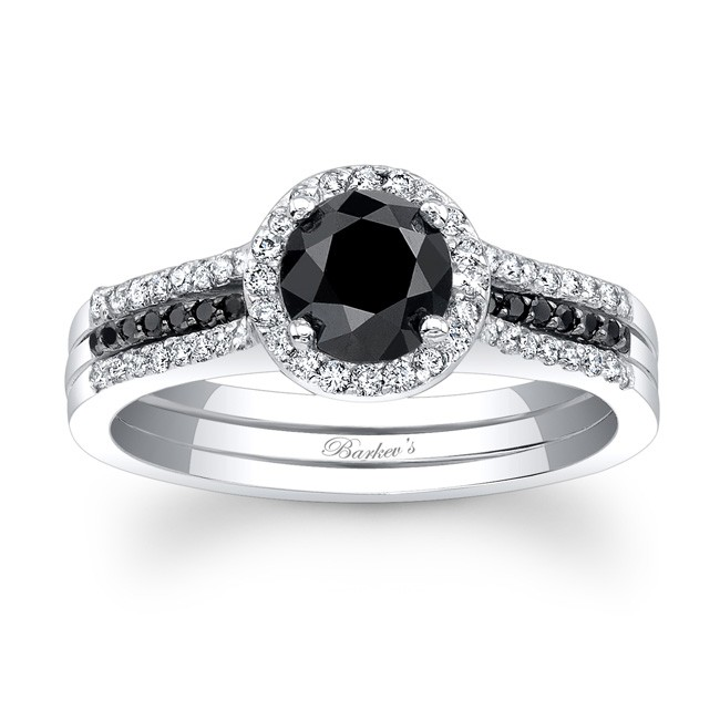 Black Diamond Bridal Set