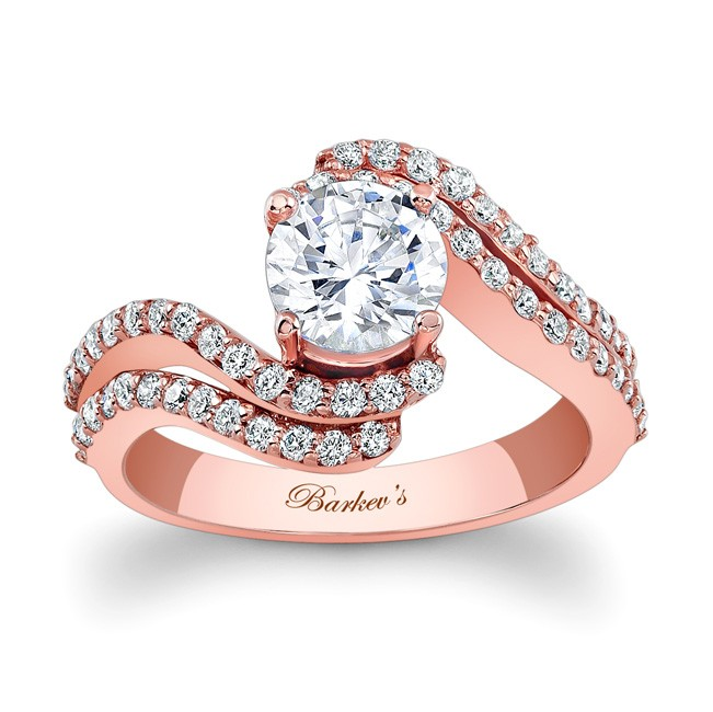 Barkevs Rose Gold Engagement Ring 7912LPW