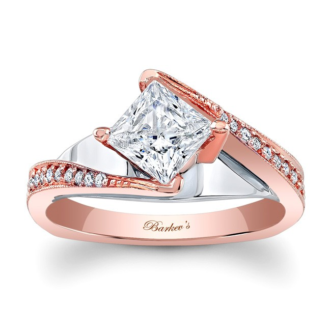 Barkevs Rose Gold Engagement Ring 7922LTW