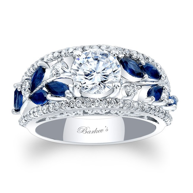 Charming Blue Sapphire Engagement Ring