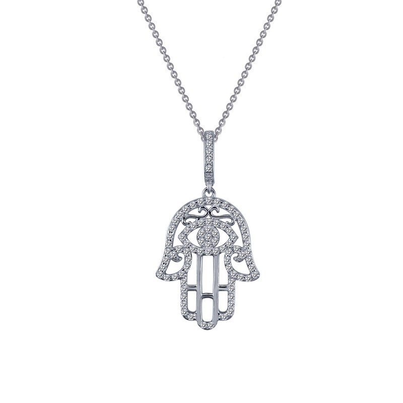 hamsa in index pendant diamond gold ctw yellow