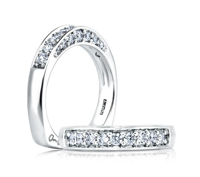 Elegant Diamond Band With Studded Profile