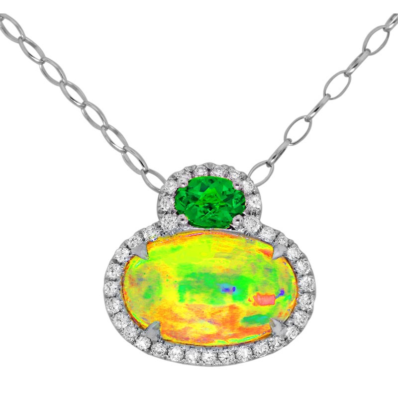 One of a kind diamond tsavorite and opal pendant p 22448 opal one of a kind diamond tsavorite and opal pendant p 22448 opal aloadofball