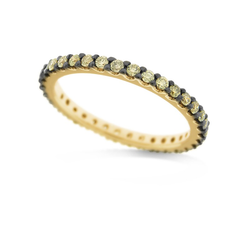 14K Champagne Diamond Stack Ring