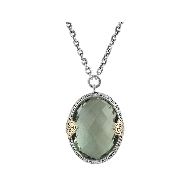 rivka on olive jewelry necklace products form grande crystal oval pendant friedman golden