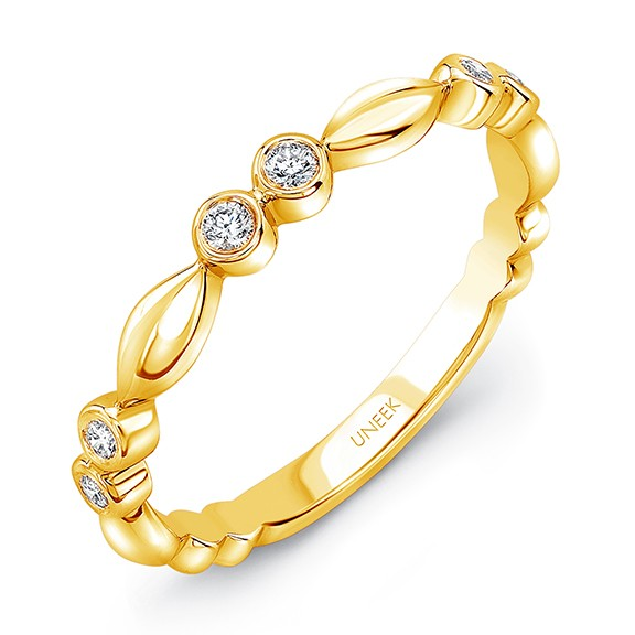 "Uneek ""Cahuenga"" Stackable Diamond Band in 14K Yellow Gold"