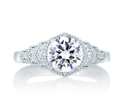 Deco Vintage Step Engagement Ring