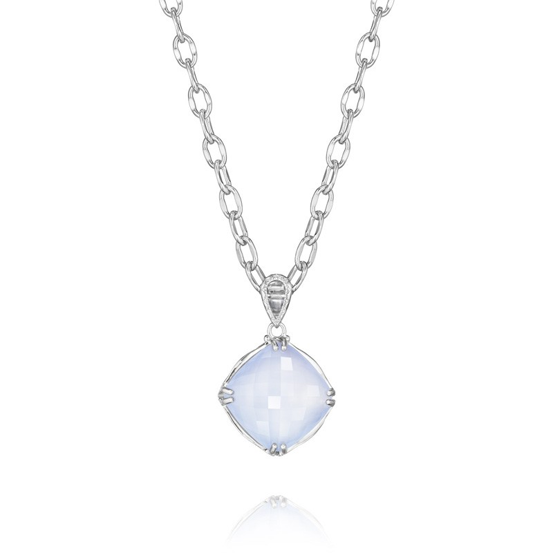Tacori Classic Rock Cushion Cut Gem Pendant