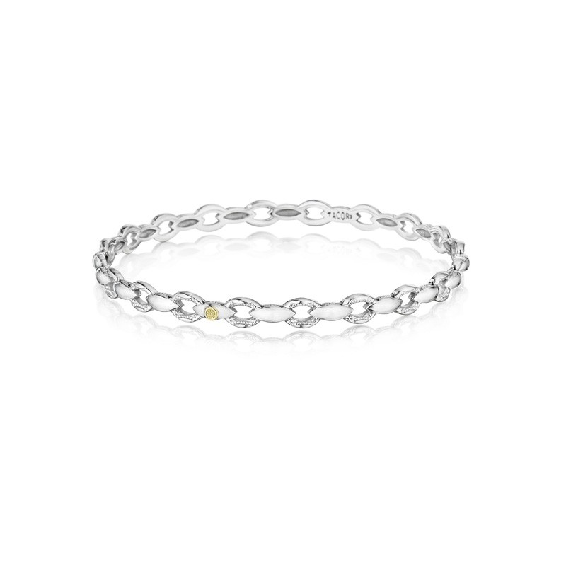 Tacori Silver Links Bracelet featuring Diamonds