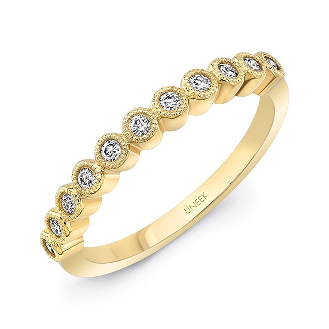 """Uneek """"Gramercy"""" Stackable Diamond Band in 14K Yellow Gold"""