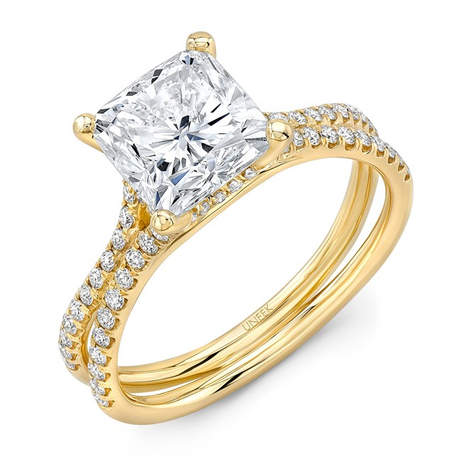 3 Carat Cushion Diamond Engagement Ring With Pave