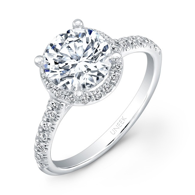 82354373eef1b Contemporary Round Diamond Halo Engagement Ring wi